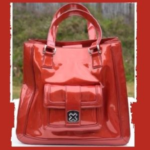 Red Patent Leather Tote LIKE NEW